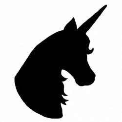 Unicorn Silhouette Head wave clipart hatenylo.com