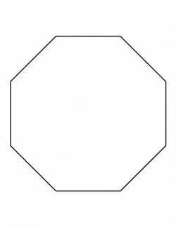 Octagon pattern. Use the printable outline for crafts, creating ...