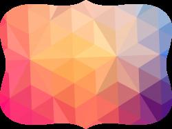 Geometry Polygon - Colorful abstract geometric border 3805*2855 ...