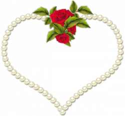 Rose Frame Clip Art | Frame Heart Pearl and a Rose Transparent clip ...