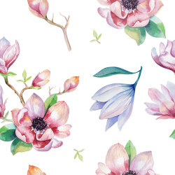 Watercolor Magnolia Bunting Free Printable   Pinterest   Buntings ...