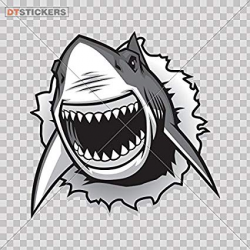 Amazon.com: Vinyl Stickers Decals Shark Jaws Attack Garage ...