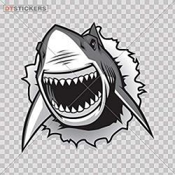 Amazon.com: Vinyl Stickers Decals Shark Jaws Attack Garage ...
