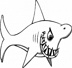Shark coloring pages for all ages - Hanslodge Cliparts