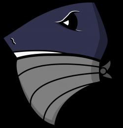 American Football style logo vector - Bandit Shark   Illustration ...