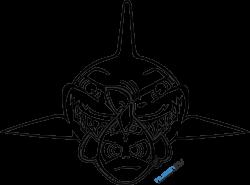 Gambar Vector PNG Helm Shark Valentino Rossi Misano 2015 - Huzenify