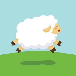 Jumping Sheep IN Field Background premium clipart ...