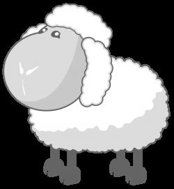 File:Sheep in gray.svg - 维基百科,自由的百科全书