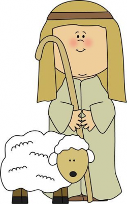 Shepherd with Sheep Clip Art - Shepherd with Sheep Image ...