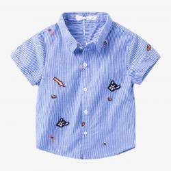 Blue Shirt Boy | gömlek | Shirts, Anchor shirts, Boys shirts