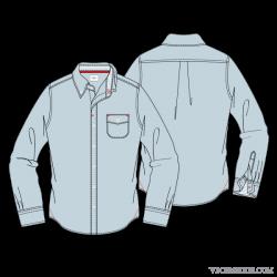 Men Formal Shirt with Button Down Collar | Fashion | Pinterest ...