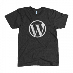 WordPress Logo Black Tri-Blend T-Shirt – WordPress Swag Store