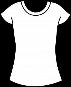 Womens T Shirt Blank Template Clip Art - Sweet Clip Art