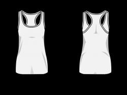Clipart - Woman T-shirt swimmer back template