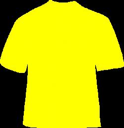 Yellow T-shirt Clip Art at Clker.com - vector clip art online ...