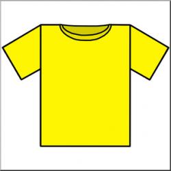 Clip Art: T-Shirt Yellow Color I abcteach.com | abcteach