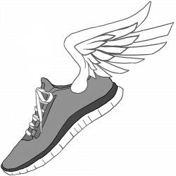 28+ Collection of Nike Running Shoes Clipart | High quality, free ...