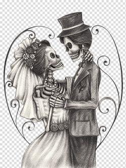 Skeleton couple illustration, Calavera Day of the Dead ...