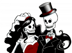 28+ Collection of Halloween Bride And Groom Clipart | High quality ...