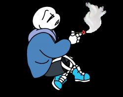 UT:Smoking Skeleton by AmoreGuardianX on DeviantArt
