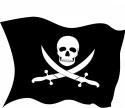 Pirate Flag Clipart Group (50+)