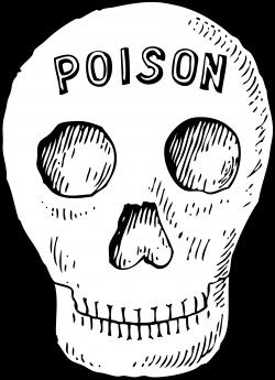 Clipart - poison skull