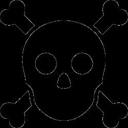 Skull Crossbones Anatomy Warning Poison Svg Png Icon Free Download ...