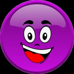 CG - smiley violet heureux - émoticône clipart cartoon ...