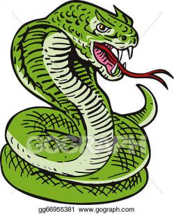 Clipart - Cobra viper snake. Stock Illustration gg66955381 ...