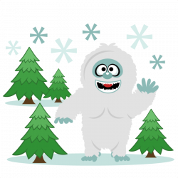 Snow Yeti Snowman SVG scrapbook cut file cute clipart files for ...