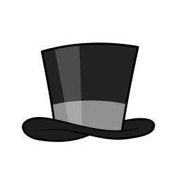 Top Hat clipart classy - Pencil and in color top hat clipart classy