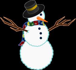 Public Domain Clip Art Image | A scarfed Snowman | ID ...