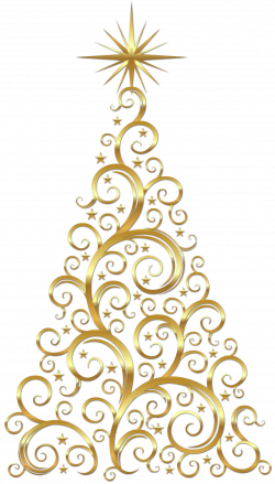 Gold Scroll Christmas Tree | ❦ Christmas Trees | Pinterest ...