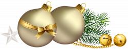 Christmas Balls with Pine Branch and Star Clipart | Gallery ...