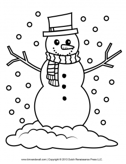 Snowman Pictures To Color | to color they may enjoy this ...