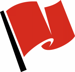 Clipart - Racing Flag Red