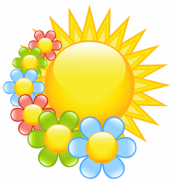 Spring Sun with Flowers Clipart | clipart | Pinterest | Flowers ...