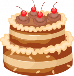 Chocolate Cake with Cherries PNG Large Clipart | cake | Pinterest ...