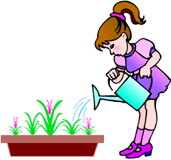 Our uses of water Water footprint Watering Cans Clip art - Gardener ...