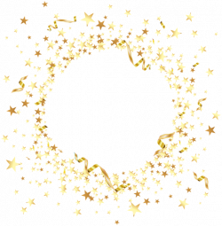 Round Element with Gold Stars PNG Clip Art | RAME și ELEMENTE ...