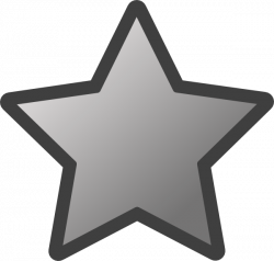 Outlined Star (grey) Clip Art at Clker.com - vector clip art online ...