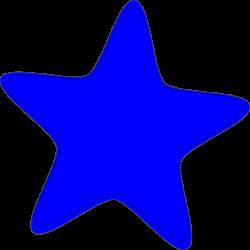 Blue Star Cartoon Clipart