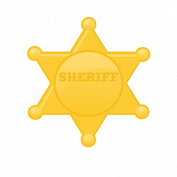 Estrela Xerife / Sheriff Badge /Country / Western / Velho Oeste ...