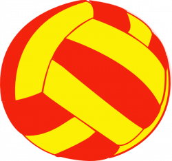 Red And Yellow Volleyball Clip Art at Clker.com - vector clip art ...