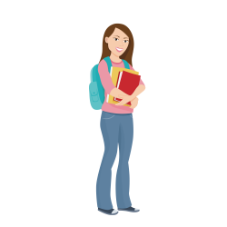 Student University College Education Clip art - Carrying a schoolbag ...