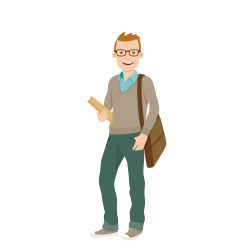Student University College Cartoon Clip art - Carrying shoulder bag ...