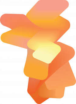 gradient #3D #shape #coral #pink #orange @oozefina | ⨳ 3D Shapes ...