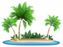 Palm Trees Island PNG Clipart Picture | Gallery Yopriceville - High ...