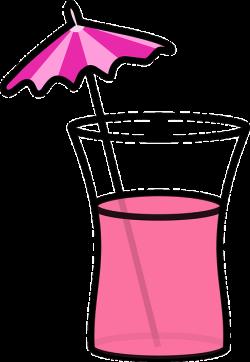 cocktail, beverage, drink, pink, summer, umbrella   Clipart ...