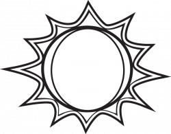 28+ Collection of Black And White Drawing Of The Sun | High quality ...